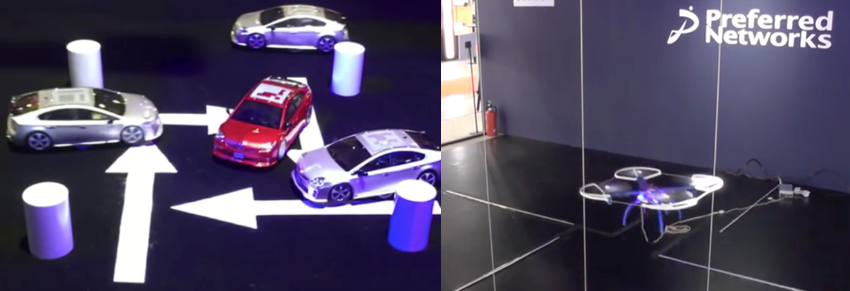 Autonomous car and drone with deep reinforcement learning
