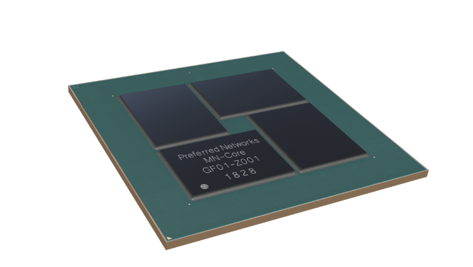 Preferred Networks develops a custom deep learning processor MN-Core for use in MN-3, a new large-scale cluster, in spring 2020